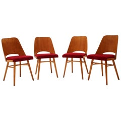 Set of Four Dining Chairs Designed by Oswald Haerdtl, 1960s