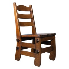 Set of Four Dining Chairs, English, Oak, Arts & Crafts Revival