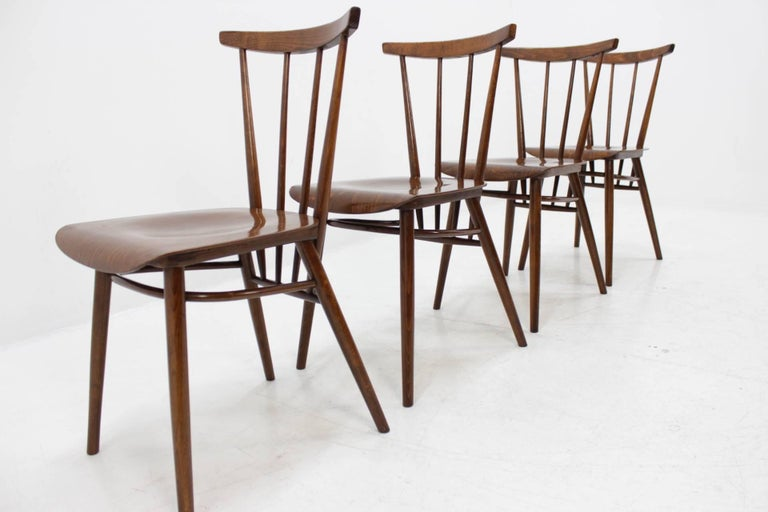 Scandinavian Set of Four Dining Chairs For Sale