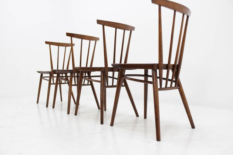 Set of Four Dining Chairs In Good Condition For Sale In Barcelona, ES