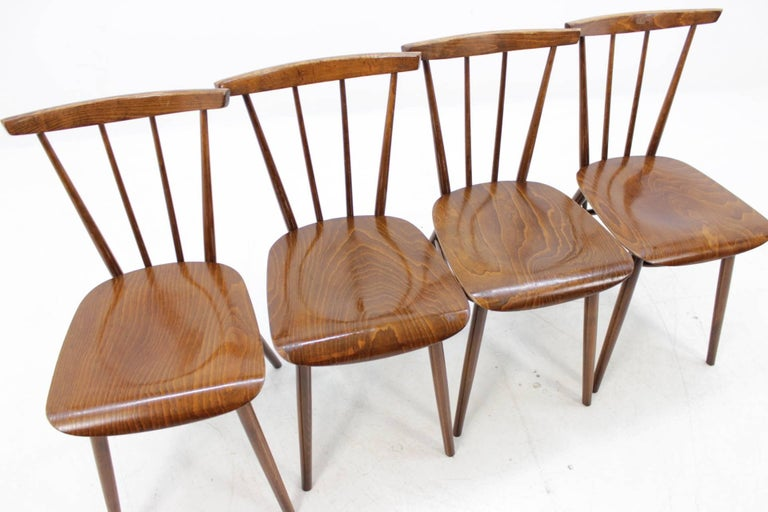 Mid-20th Century Set of Four Dining Chairs For Sale