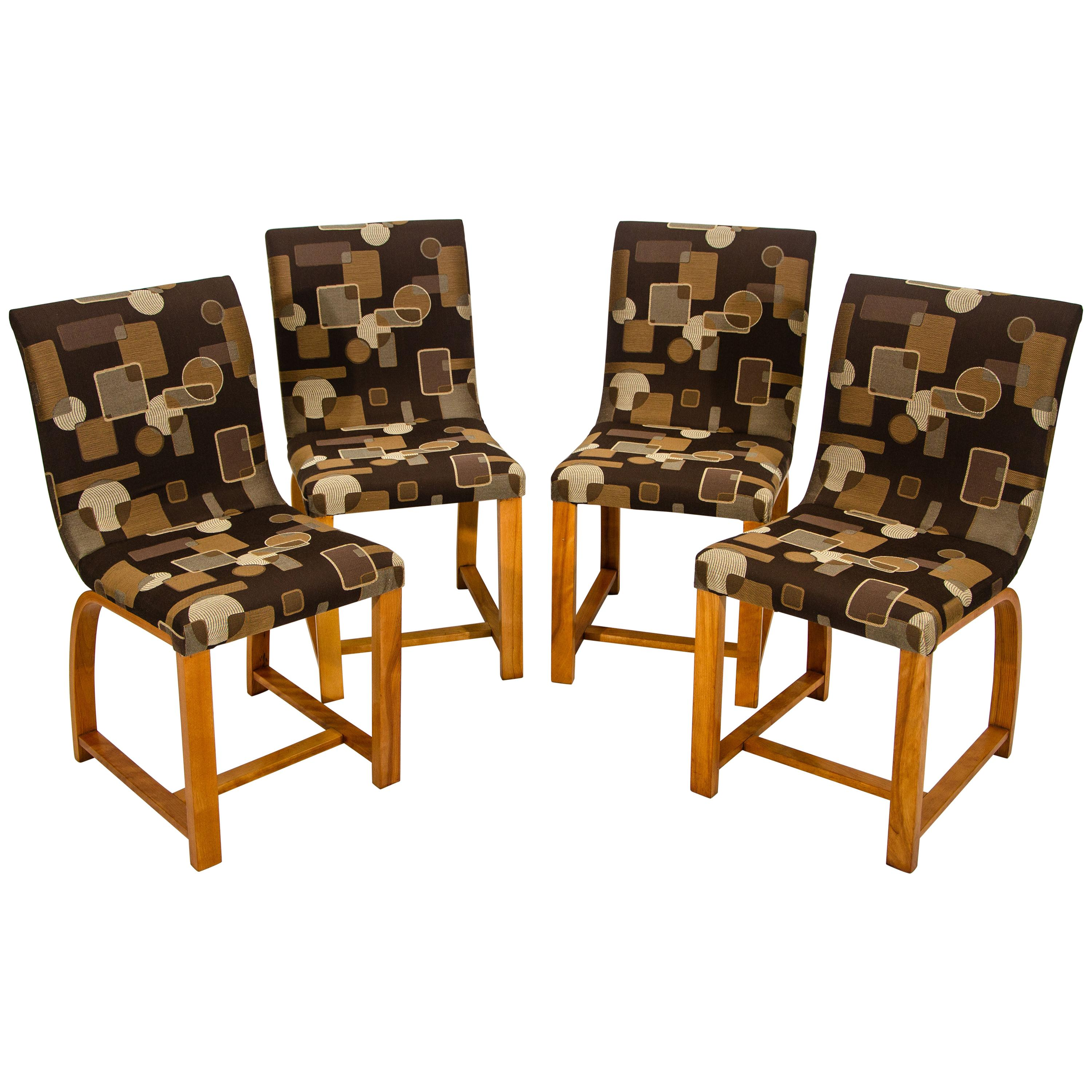 Set of Four Dining Chairs, Gilbert Rohde for Heywood Wakefield