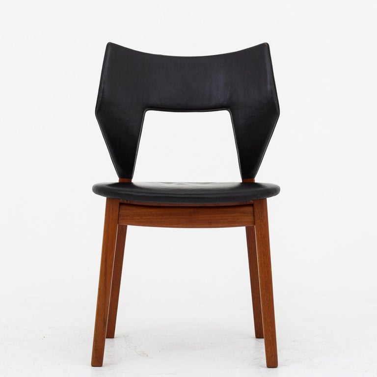 Scandinavian Modern Set of Four Dining Chairs in Teak by Tove & Edvard Kindt Larsen For Sale