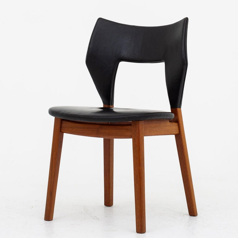 Danish Set of Four Dining Chairs in Teak by Tove & Edvard Kindt Larsen For Sale
