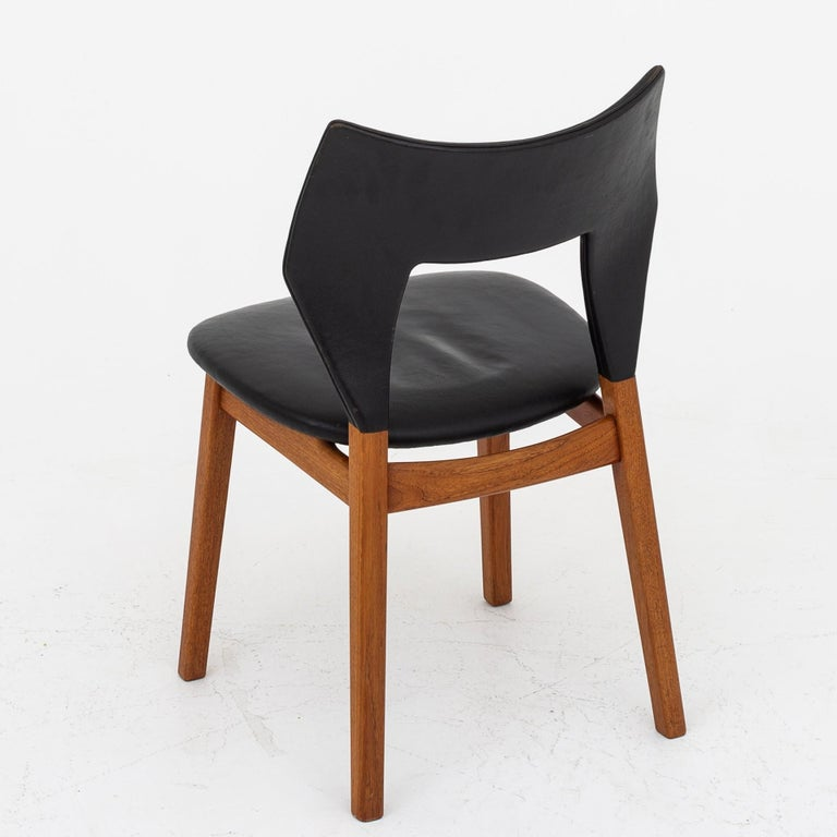 Set of Four Dining Chairs in Teak by Tove & Edvard Kindt Larsen For Sale 3