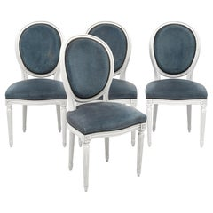 Set of Four Dining Chairs, Louis XVI Style