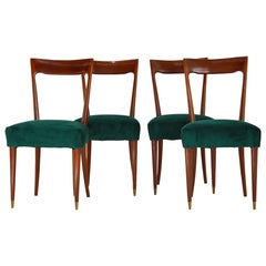 Set of four Dining Chairs Midcentury by Guglielmo Ulrich, 1940s