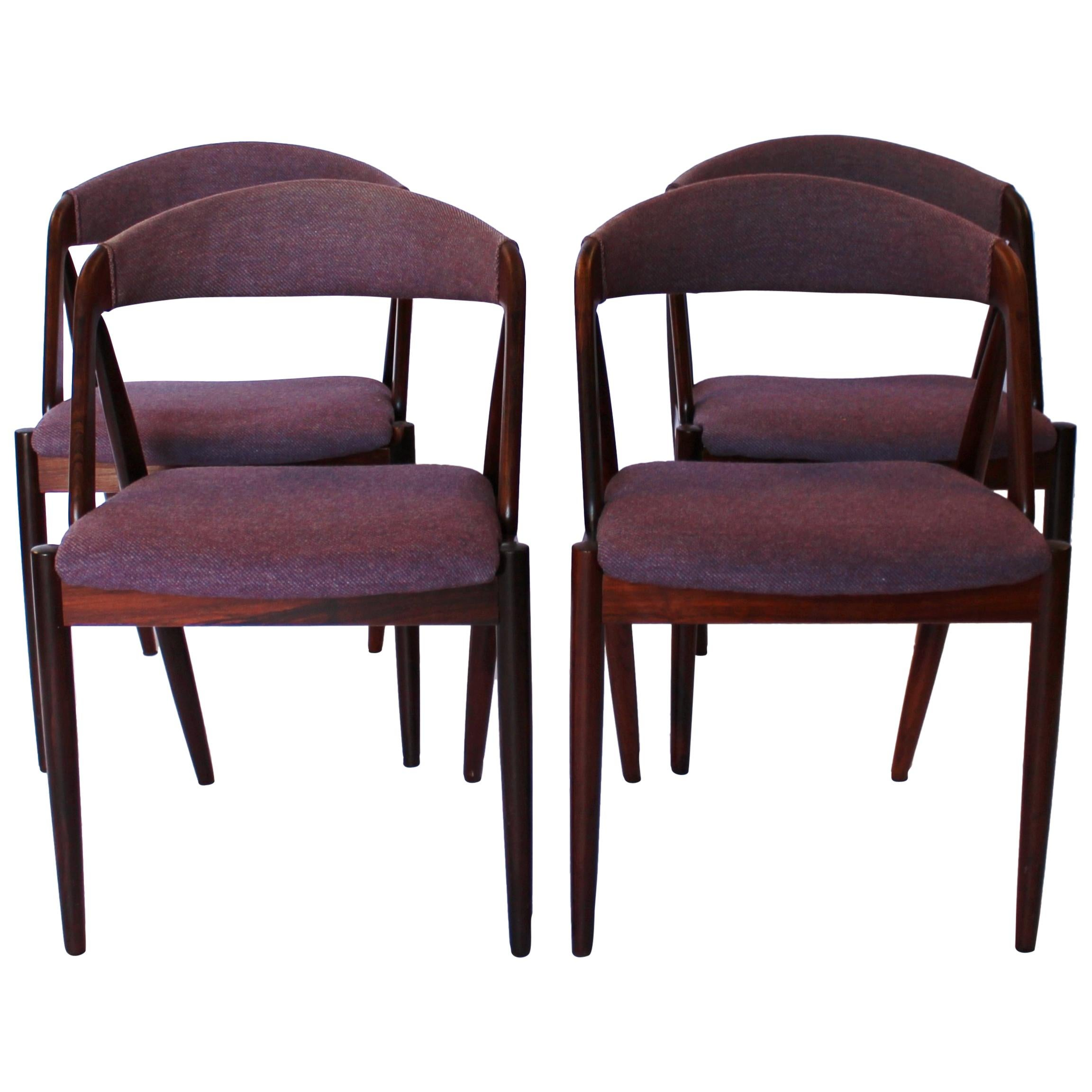 Set of Four Dining Chairs, Model 31, Kai Kristiansen and Schou Andersen, 1960s