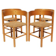 Set of Four Dining Chairs, Model FH 4216 by Mogens Lassen and Fritz Hansen, 1960