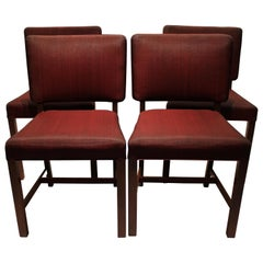 Set of Four Dining Chairs of Mahogany by Fritz Hansen, 1930s