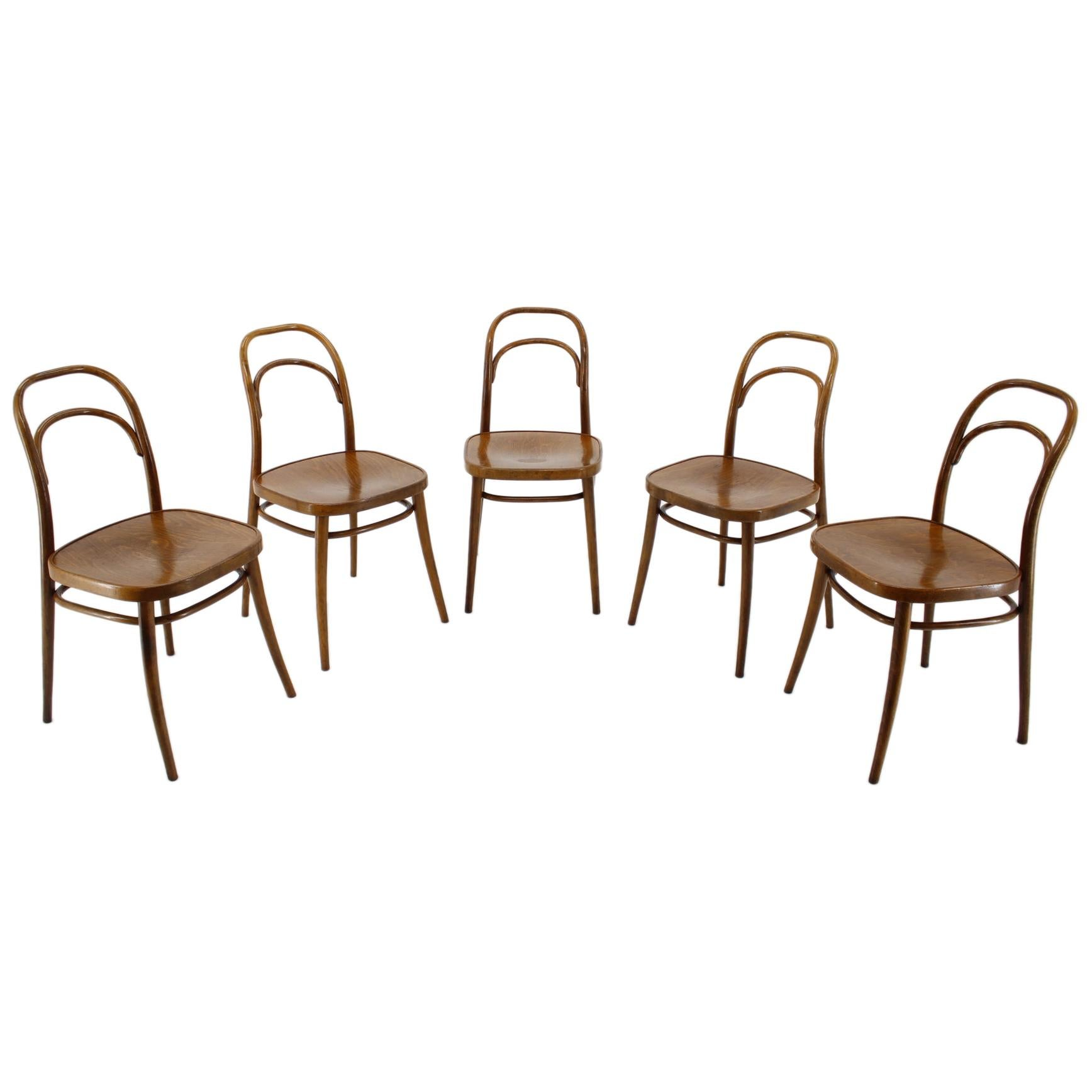Set of Four Dining Chairs Ton, Designed by Antonín Šuman, 1960