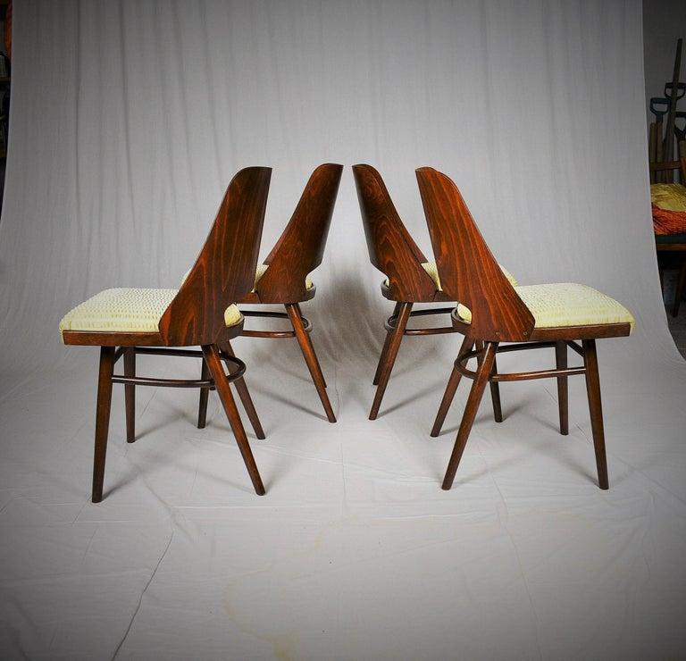 - Made in Czechoslovakia - Made of beechwood, fabric - Manufacturer: Ton Bystrice pod Hostýnem - Good, original condition.