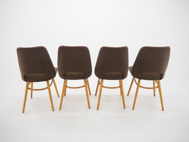 - Made in Czechoslovakia - Made of beechwood, fabric - Manufacturer: Ton Bystrice pod Hostýnem - Original condition - Need a new upholstered.