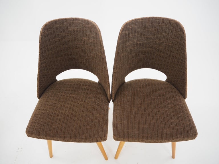 Set of Four Dining Chairs, Ton, Designed by Oswald Haerdtl, 1950s, Expo 58 In Fair Condition For Sale In Praha, CZ