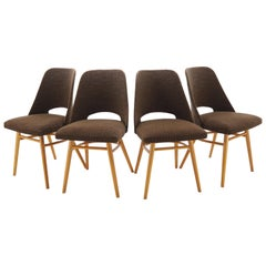 Set of Four Dining Chairs, Ton, Designed by Oswald Haerdtl, 1950s, Expo 58
