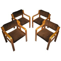 Set of Four Dining / Office Chairs by Ludvik Volak, 1960s
