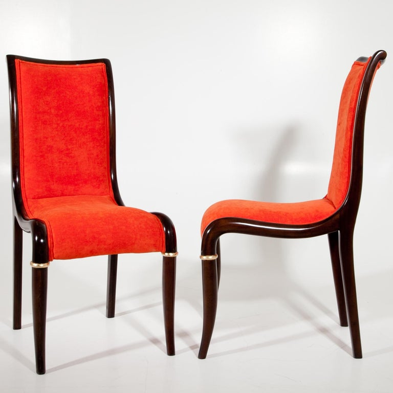 European Set of Four Dining Room Chairs, 1980s For Sale