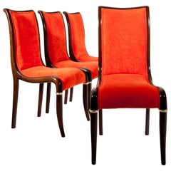 Set of Four Dining Room Chairs, 1980s
