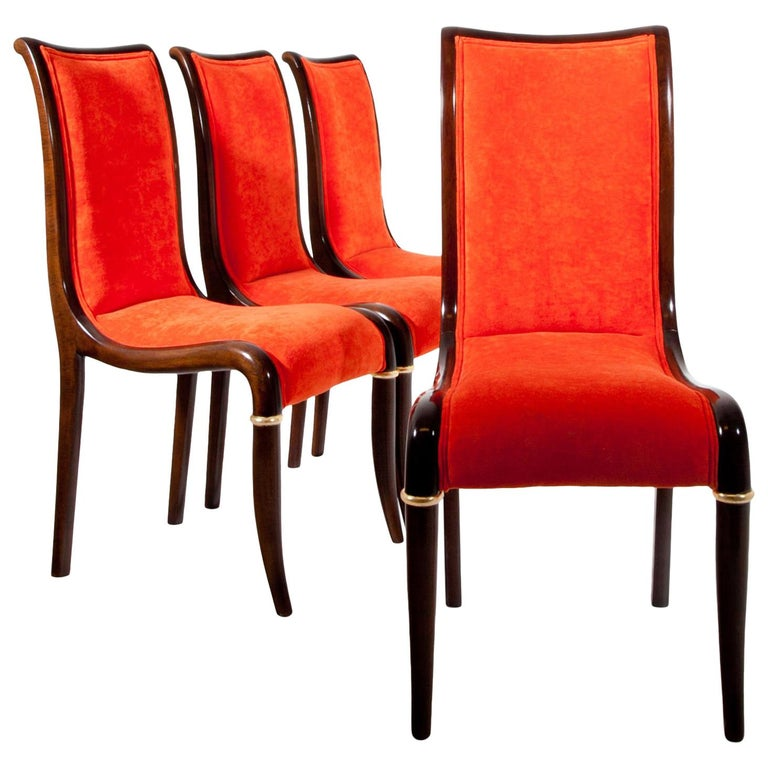 Set of Four Dining Room Chairs, 1980s For Sale