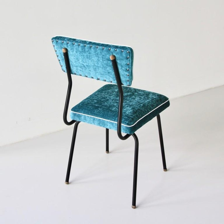 French Set of Four Dining Room Chairs, France, 1950s For Sale