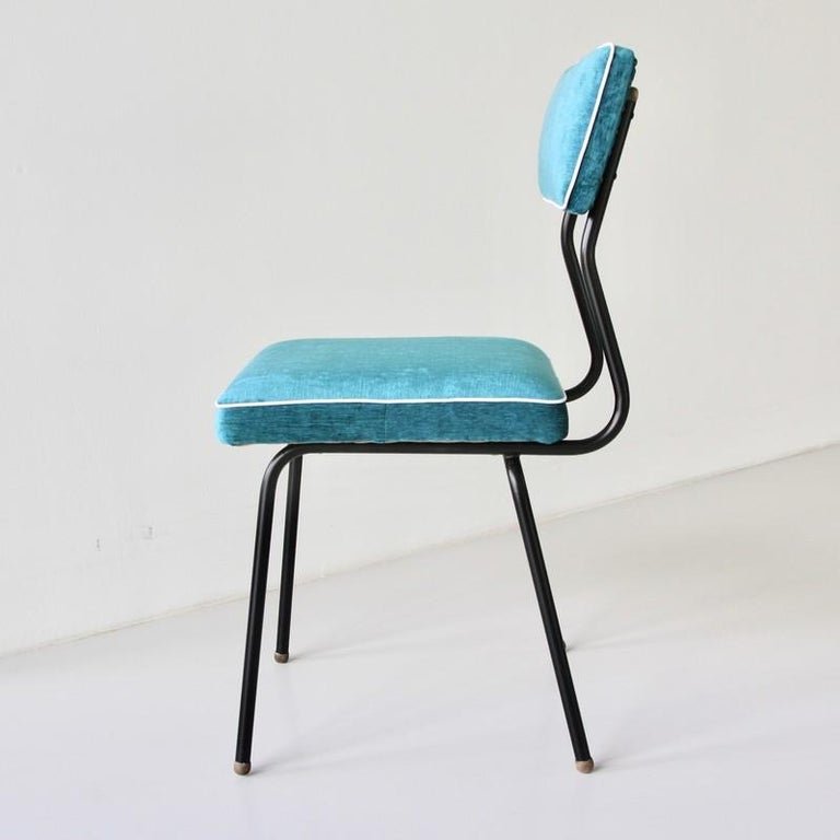 Mid-20th Century Set of Four Dining Room Chairs, France, 1950s For Sale