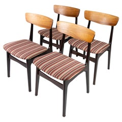 Set of Four Dining Room Chairs in Rosewood of Danish Design, 1960s