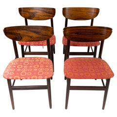 Set of Four Dining Room Chairs in Rosewood, of Danish Design, 1960s