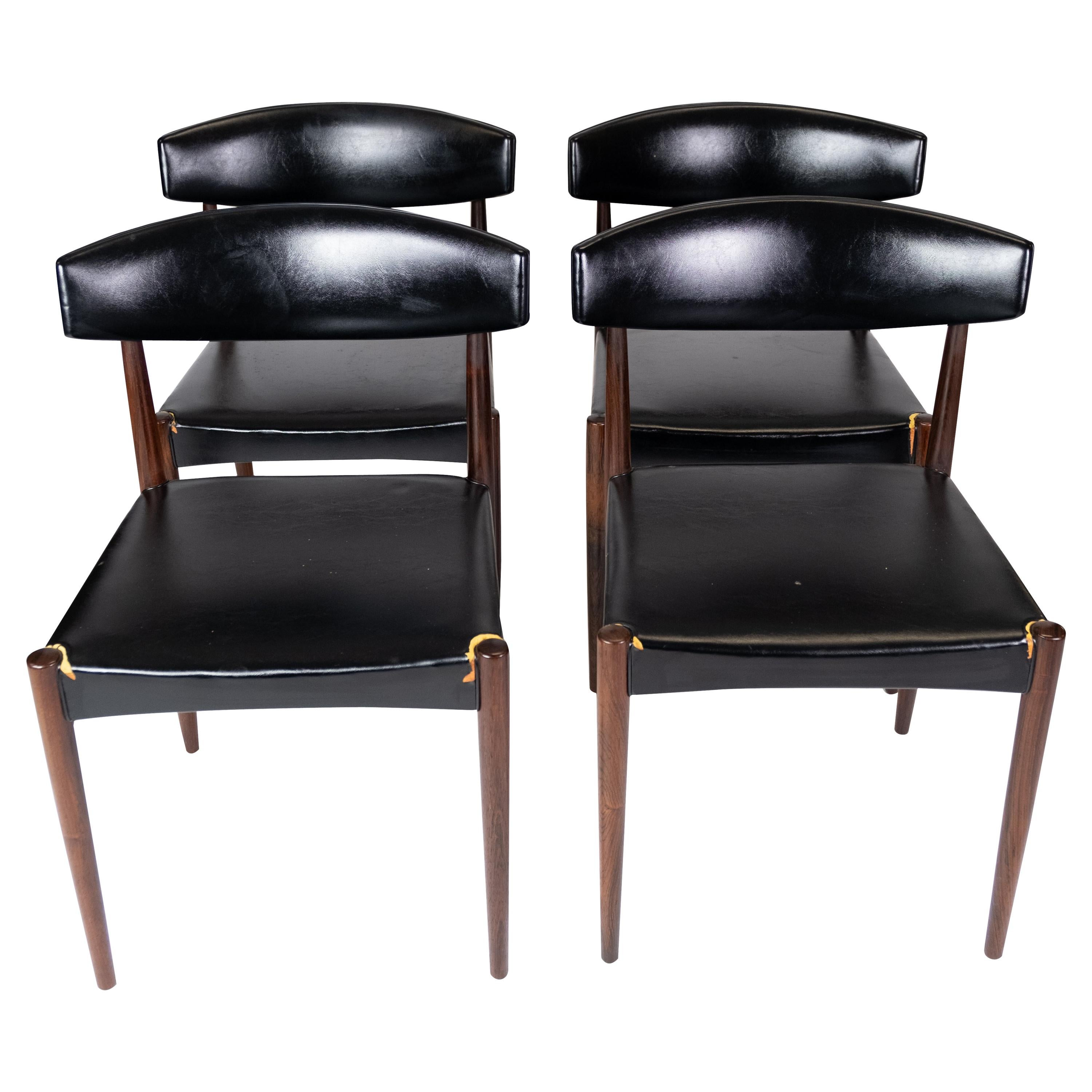 Set of Four Dining Room Chairs in Rosewood of Danish Design, 1965