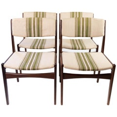 Set of Four Dining Room Chairs in Teak by Erik Buch, 1960