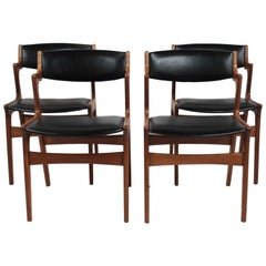 Set of Four Dining Room Chairs of Danish Design by Nova Furniture, 1960s