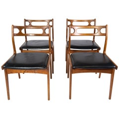 Set of Four Dining Room Chairs of Teak, of Danish Design, 1960s