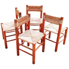 "Set of Four ""Dordogne"" Chairs by Robert Sentou, France, 1960s"