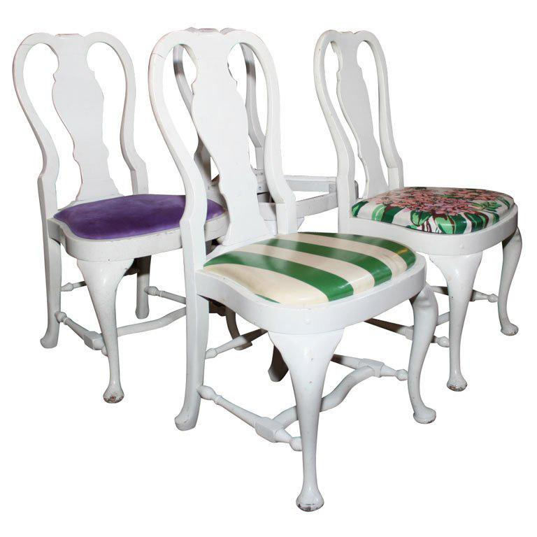 Set of Four Dorothy Draper Side Chairs For Sale