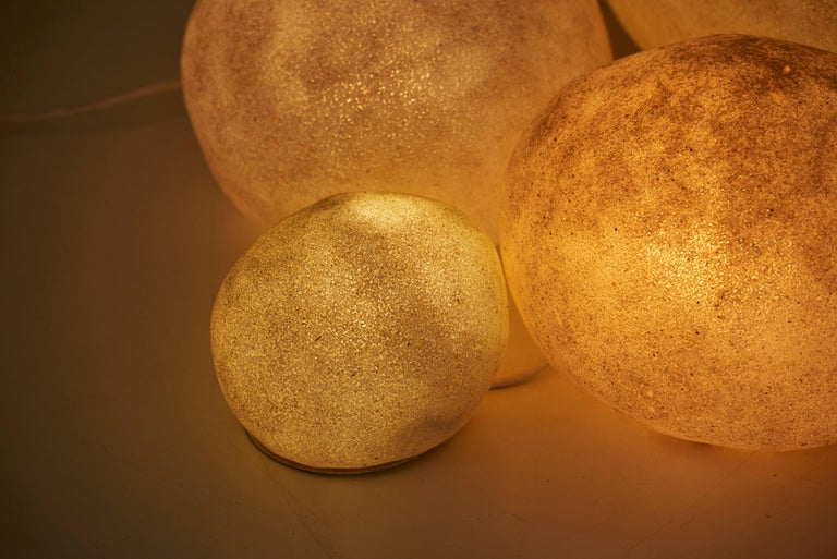 Set of Four Dorra Stone Rock Shaped Lamps by André Cazenave for Atelier A, 1960s For Sale 3