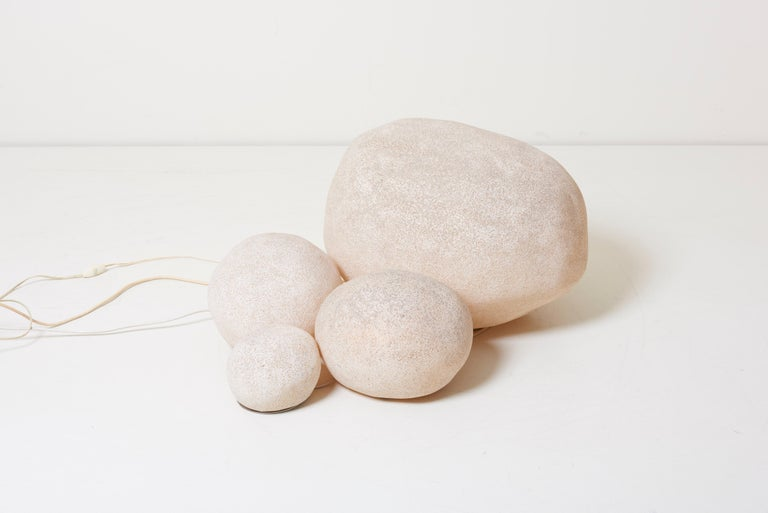 Set of Four Dorra Stone Rock Shaped Lamps by André Cazenave for Atelier A, 1960s For Sale 6