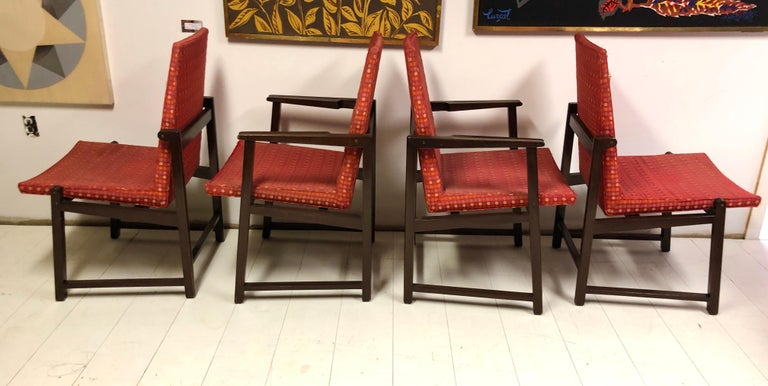 Set of Four Dunbar Side Chairs For Sale 3