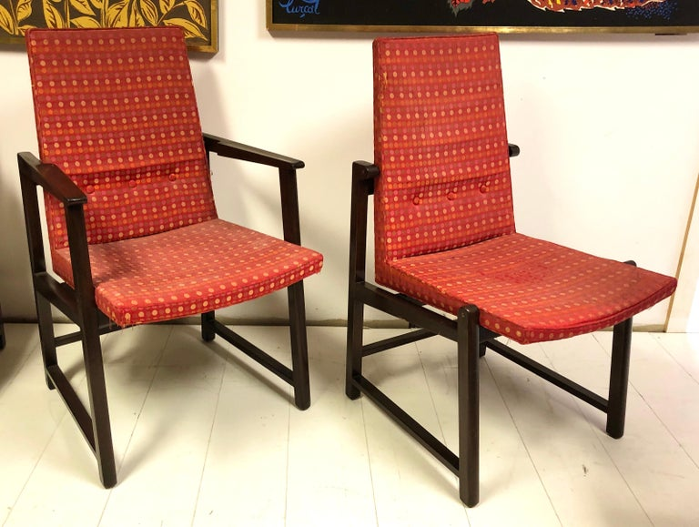 Set of Four Dunbar Side Chairs For Sale 4