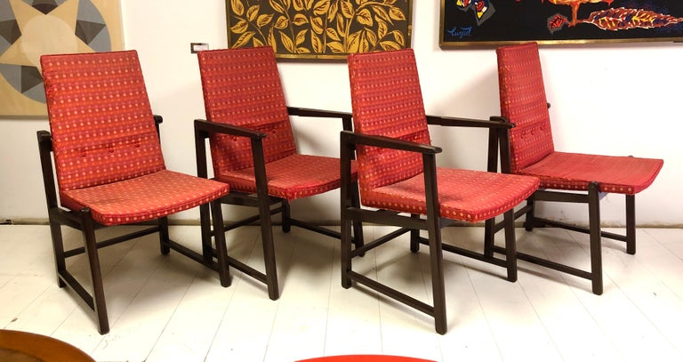 Mid-Century Modern Set of Four Dunbar Side Chairs For Sale