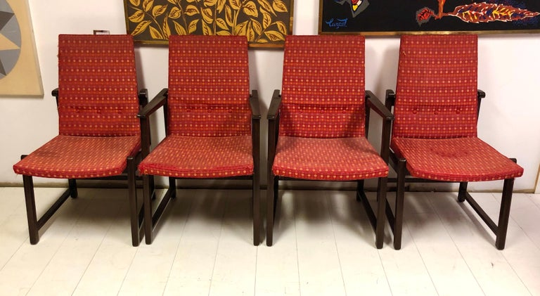 Set of Four Dunbar Side Chairs In Good Condition For Sale In Hudson, NY