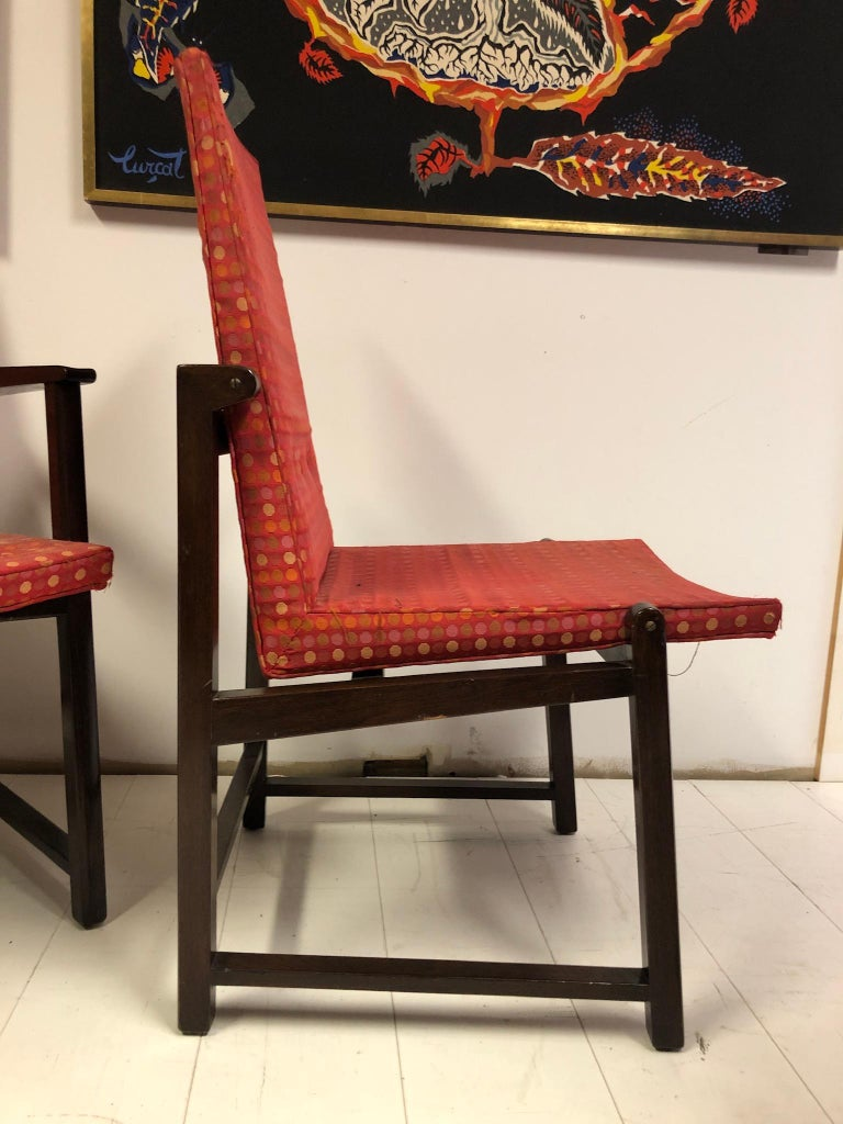 Mid-20th Century Set of Four Dunbar Side Chairs For Sale