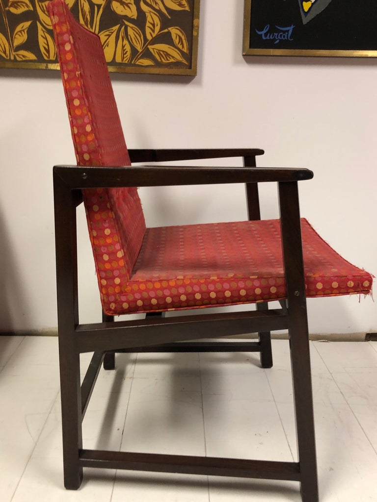 Mahogany Set of Four Dunbar Side Chairs For Sale