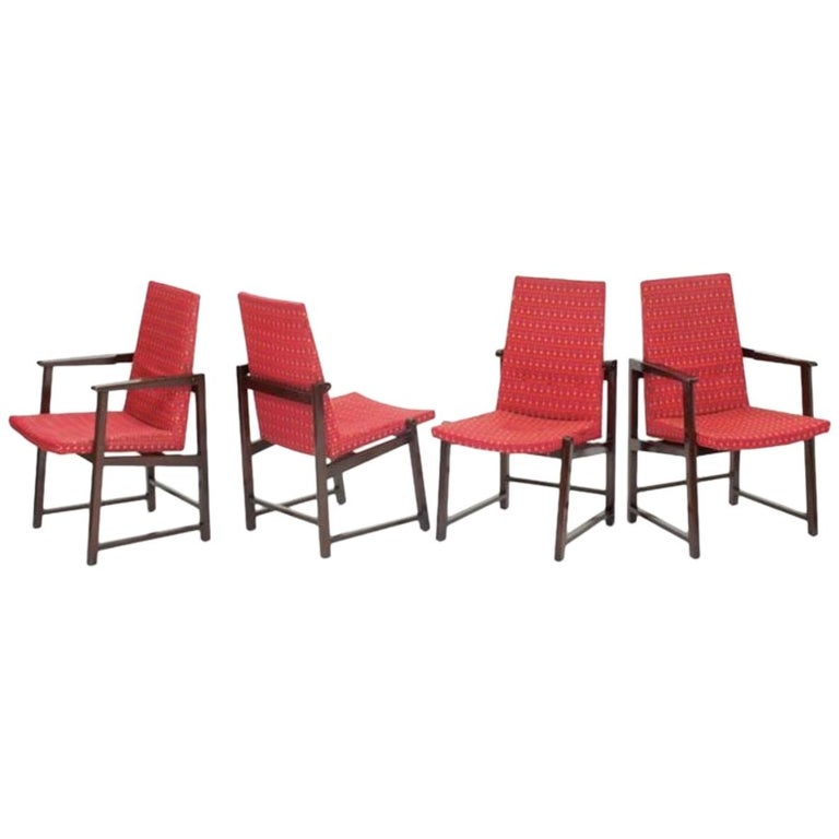 Set of Four Dunbar Side Chairs For Sale