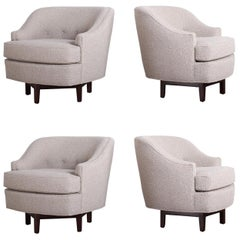 Set of Four Dunbar Swivel Chairs by Edward Wormley