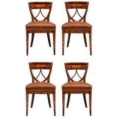 Set of Four Dutch 19th Century Louis XVI Style Side Chairs