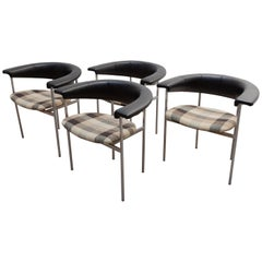 "Set of Four Dutch Design ""Meander"" Chairs Designed by Rudolf Wolf, 1963"