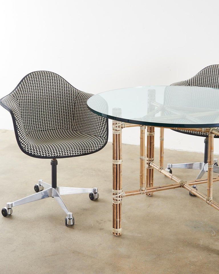 American Set of Four Eames for Herman Miller Swivel Shell Chairs  For Sale