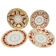 Set of Four Early 19th Century Coalport English Porcelain Plates