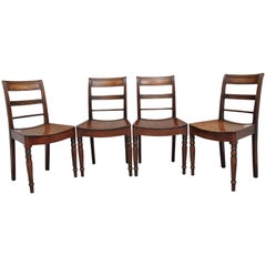 Set of Four Early 19th Century Mahogany Side Chairs