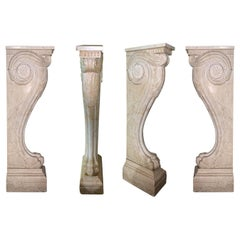 Set of Four Early 19th Century Marble Corbels