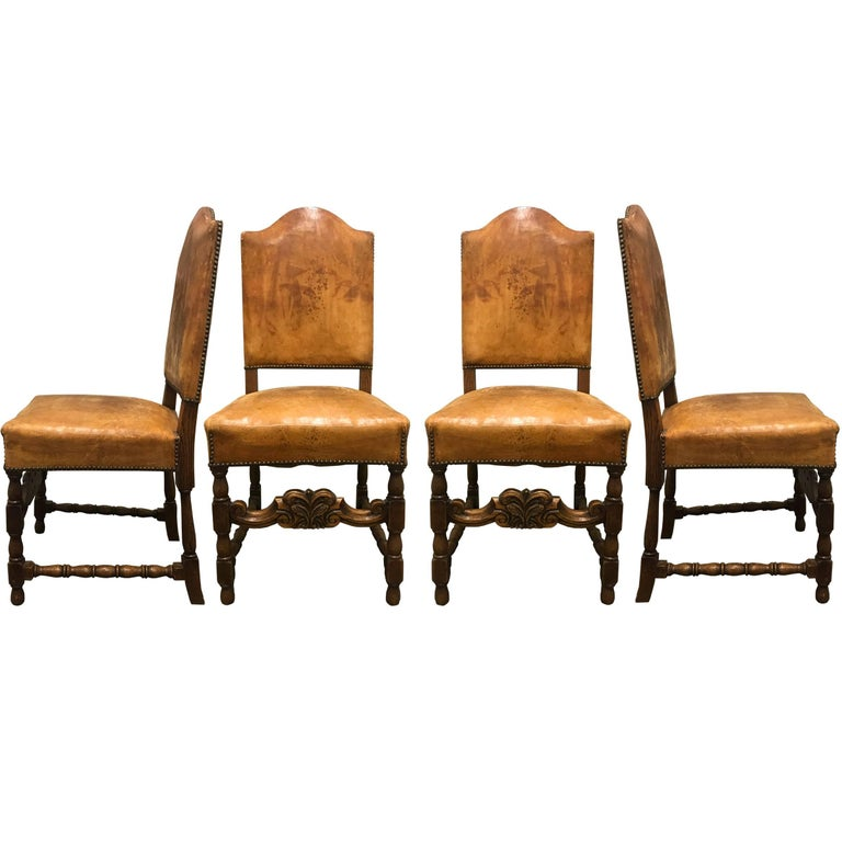 Set of Four Early 20th Century Danish Dining Chairs For Sale